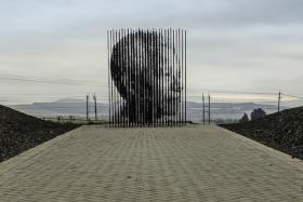 Artist Marco Cianfanelli designed this sculpture as an ode to South African President Nelson Mandela. The sculpture resides in the KwaZulu-Natal province in South Africa.