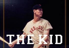 Detail from cover of The Kid: The Immortal Life of Ted Williams.