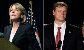 Martha Coakley and Charlie Baker.