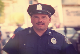 Michael Miles as a young Lowell police officer