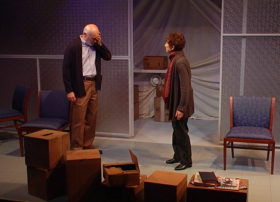 "A scene from ""Absence."" More than 5 million Americans are living with dementia, and the Boston Playwrights' Theater's new play brings that stark statistic into perspective."