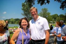 Charlie Baker out on the campaign trail in 2010. Baker is running for governor in Massachusetts, and joined Jim and Margery to talk about his candidacy.