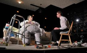 "John Kuntz and Ryan O'Connor in the SpeakEasy Stage Company production of ""The Whale."""