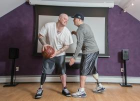 Brothers J.P. and Paul Norden both lost their right leg from the second explosion at the 2013 Boston Marathon.
