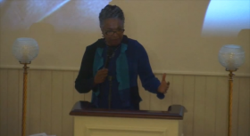 Cheryl LaRoche at the African American Meeting House