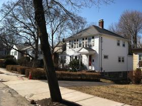 The West Roxbury home of Lt. Edward Walsh
