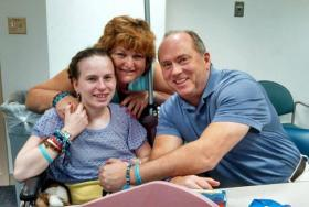 Justina Pelletier with her parents, Linda and Lou, who lost custody of the 15-year-old when Children's Hospital took over her care and accused the parents of child abuse.