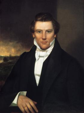 Joseph Smith in an 1842 painting. Writer Alex Beam talked about his new book about Smith, called American Crucifixion.