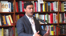 Thomas Piketty at Harvard Book Store