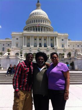 Tayquan with his parents, Roy and Monica Lynch, in Washington, D.C. last year.