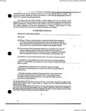 Memo by Deputy Assistant Attorney General John Yoo authorizing enhanced interrogation techniques. Alex Beam joined Jim and Margery to talk about another memo by Harvard professor David Barron.