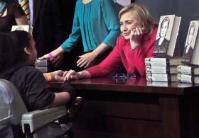 Hillary Clinton at a book signing in New York.