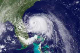 Arthur, the first named storm of the hurricane season, looms over Florida.