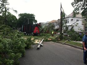 Tornado damage in revere, July 2014.