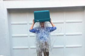 Mass. Treasurer and gubernatorial candidate Steve Grossman takes the Ice Bucket Challenge.