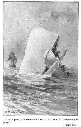 Illustration from an early edition of Moby-Dick.