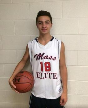 Jack Woods as an eighth-grader on the Mass Elite team.