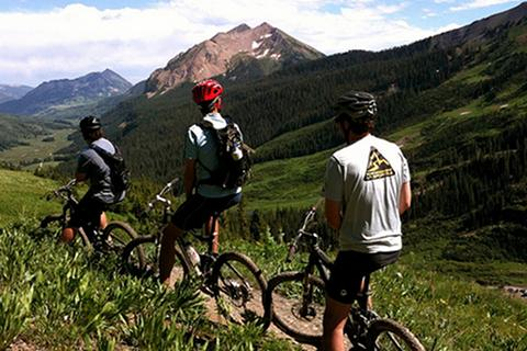 Mountain Bike 401 Trail in Crested Butte, Colorado, bicyclists