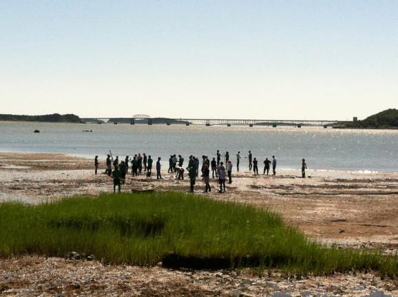 The UMass group on Thompson Island.