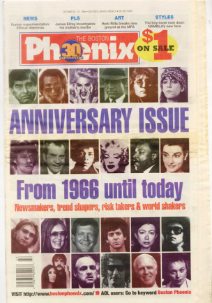 The Phoenix&#039;s 30th anniversary issue, Oct. 25, 1996.