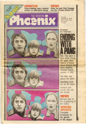 The Phoenix covers &quot;Kramer vs. Kramer&quot; on Dec. 5, 1979.