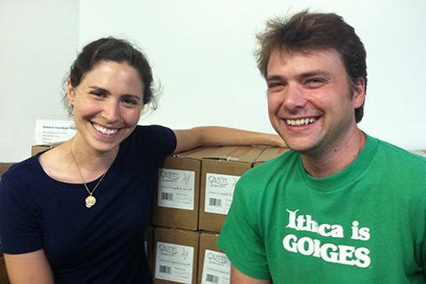 Quinn Popcorn founders Kristy and Coulter Lewis. Not shown: their son, Quinn