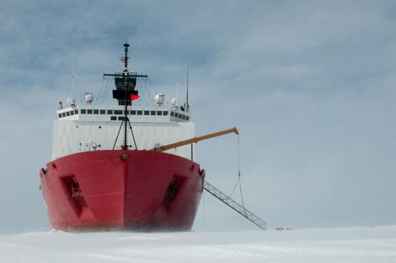 The Coast Guard ice breaker Healy is dedicated to Arctic research.