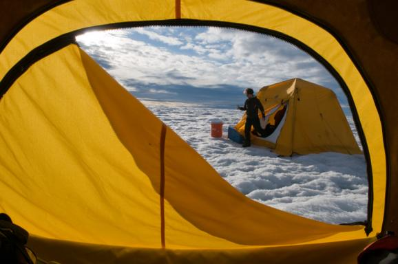A summer research expedition on Greenland's ice sheet isn't your typical camping trip.