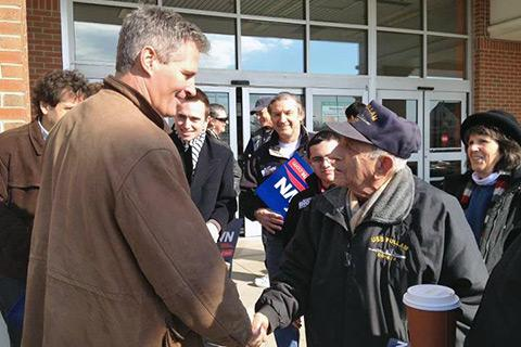 Sen. Scott Brown wears his famous barn jacket in March 2012.