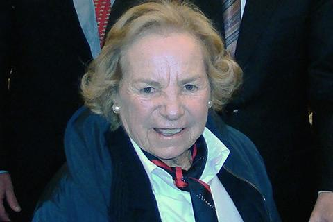 Ethel Kennedy at a U.S. House environmental hearing in 2008