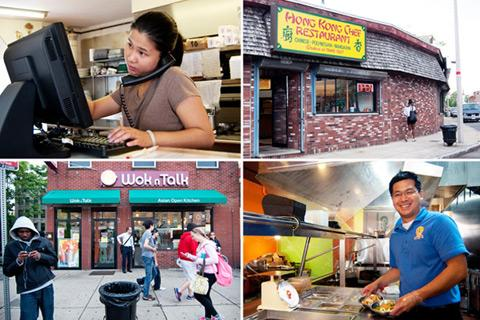 Two new takeout staff and their takeouts: Mei Chen of Hong Kong Chef in Dorchester and Nathan Long of Wok N Talk in JP