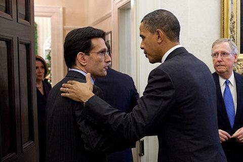 House Majority Leader Eric Cantor (left; R-VA) is the highest-ranking Jewish member of Congress in history. This fall, the GOP will look to court Jewish voters in an effort to unseat President Obama.