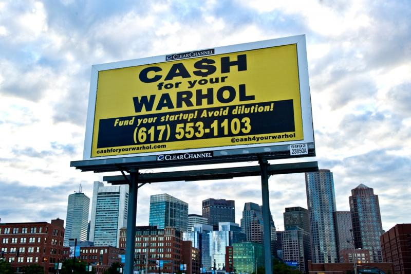 Cash for your Warhol billboard on Fan Pier