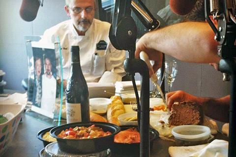 Chef Jacky Robert brings a Julia-inspired spread to the Boston Public Radio studios.
