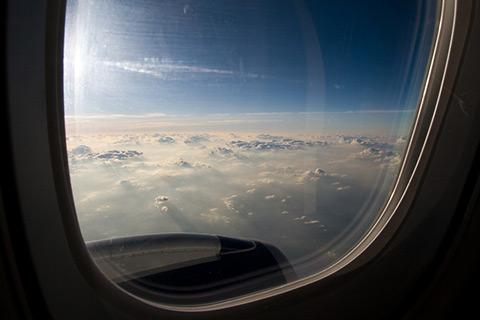 a view out an airplane window
