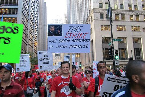 Teachers in Chicago continued their strike into a second day today. The impasse, which has received national attention, could have an effect on teacher negotiations in Boston.