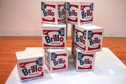 Andy Warhol's Brillo boxes sculpture.