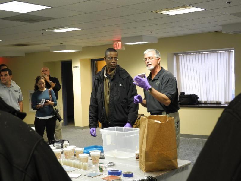 National Forensic Academy Instructor demonstrates forensic tools
