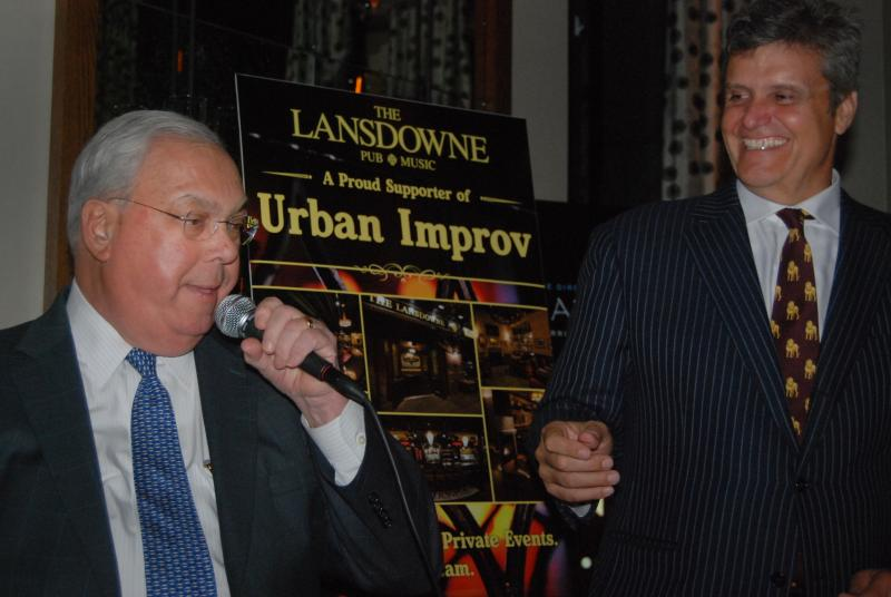Patrick Lyons with Mayor Menino at an Urban Improv event