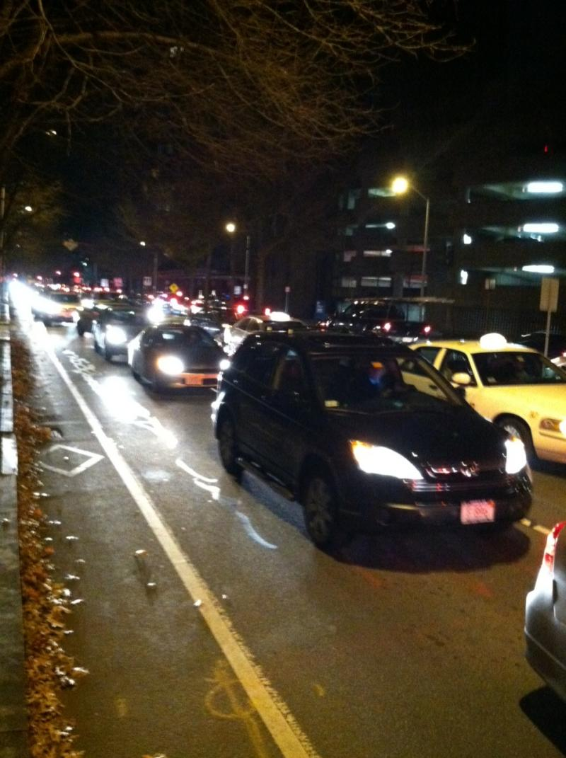 Traffic on Broadway in Kendall Square.
