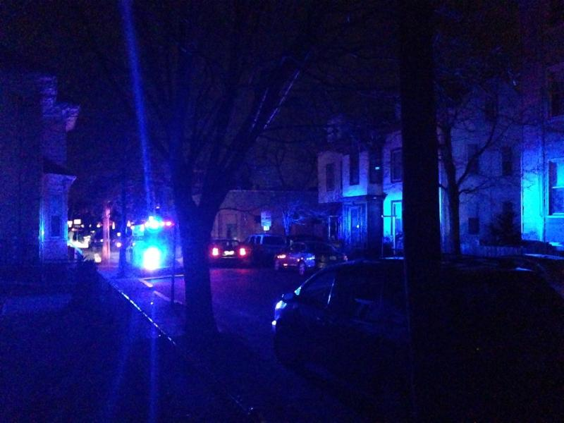 There was heavy police presence in the area surrounding Central Square. Pictured is Pearl Street in Cambridge