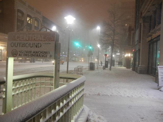Central Square at 6:45pm on February 9, 2013