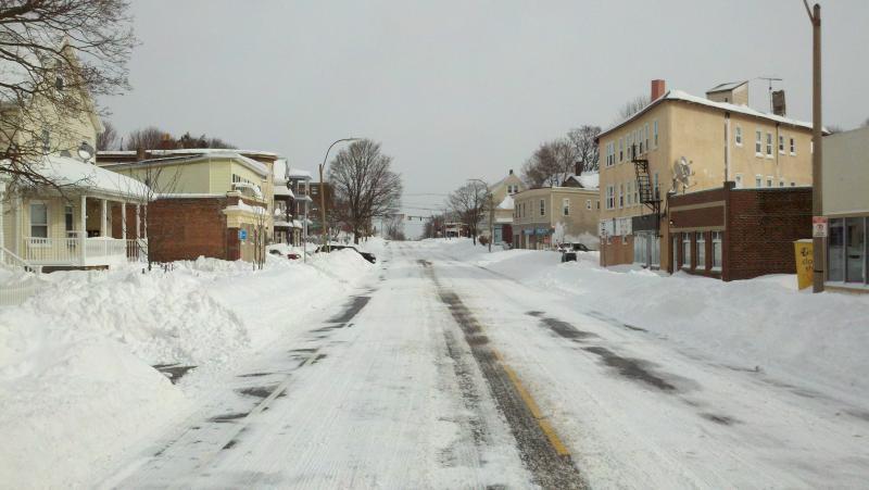 Belgrade Ave, looking east, in Roslindale