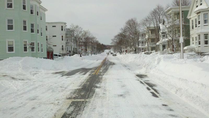 Belgrade Ave, looking west, in Roslindale