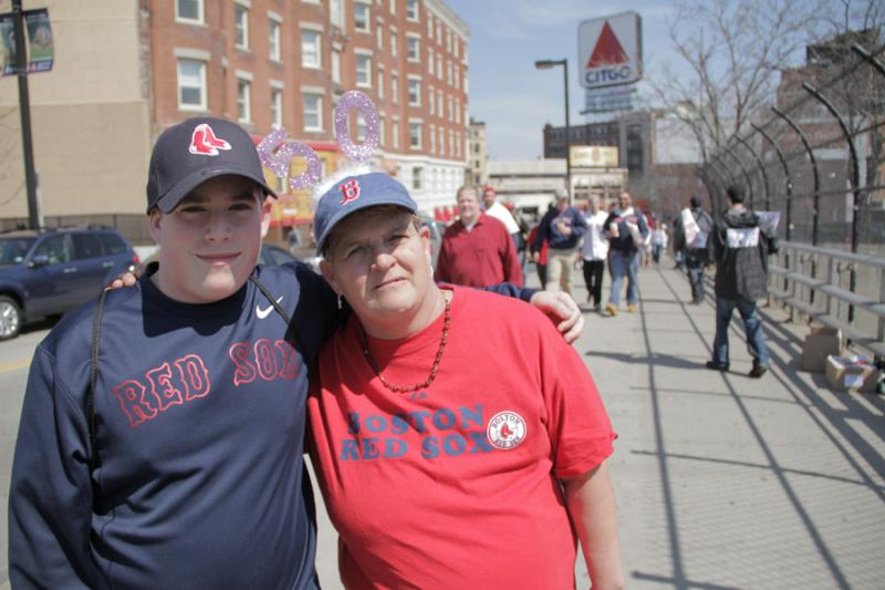 Paulette Barsamian and her son Kyle are coming to the game today to celebrate her 50th birthday
