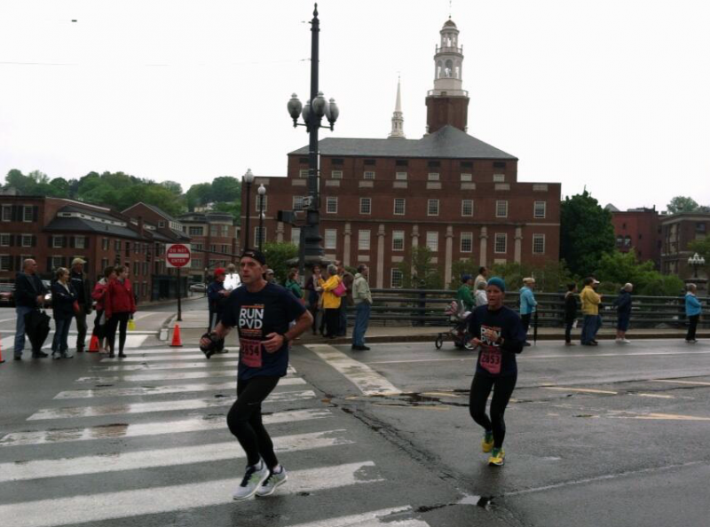 Runners compete in the Providence Marathon