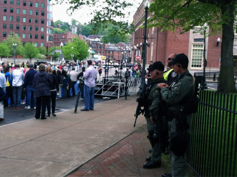 Security at the Providence Marathon