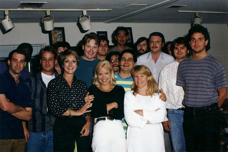 Question 4: George Meyer, Simpsons writer, pictured here fourth from the left with goatee - giver, or taker?