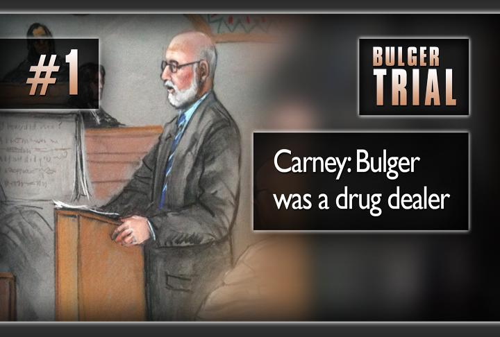 One of the most significant moments in all nine weeks of the trial: defense attorney Jay Carney's admitted in opening statements that James Whitey Bulger did deal drugs. He had never admitted this before.