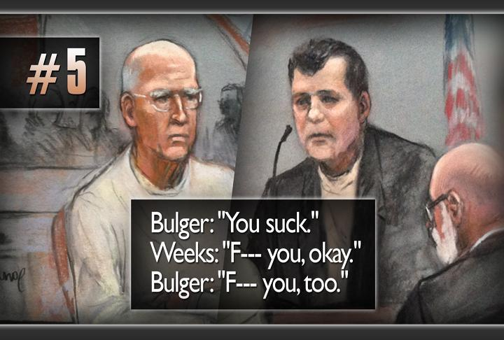 And then there was this: the heated exchange between onetime mobster Kevin Weeks and Bulger in court.